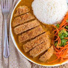 Delicious healthy oven baked Chicken Katsu Curry with an amazing veggie filled curry sauce.