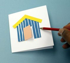 How to Make a Beach Hut Card