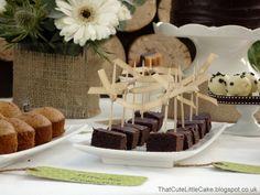 A natural dessert table