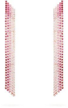 Lynn Ban - Waterfall Sapphire & Rose Gold-plated Earrings - Pink