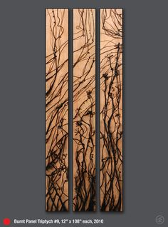 Jonah Ward — Glass Burned Wood Panel Series