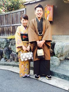 Couple in kimono