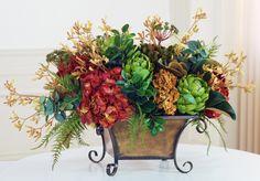 tuscan silk flower centerpieces - Google Search