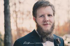 Groom portrait - Keri and Jon   Winter Wedding at Hinton Life Center in Hayesville