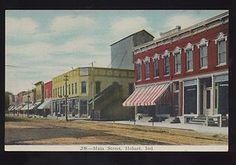1908 Main Street Postcard - Hobart, IN. It still looks exactly the same!