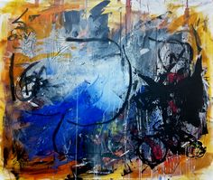 01.04.2014, ©Wolfgang Kahle, 102 x 120 cm, mixed media on canvas