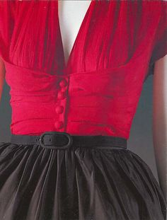 Christian #Dior soie 1952 #mode