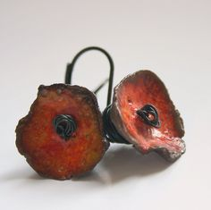 earring, ceramic, glaze