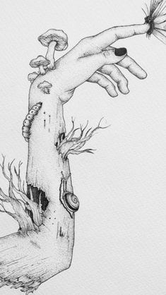Trippy Drawings, Dark Art Drawings, Pencil Art Drawings, Art Drawings Sketches, Cool Drawings, Beautiful Drawings, Arte Obscura, Creepy Art, Hippie Art