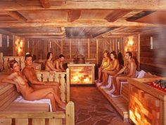 Finnish coed sauna