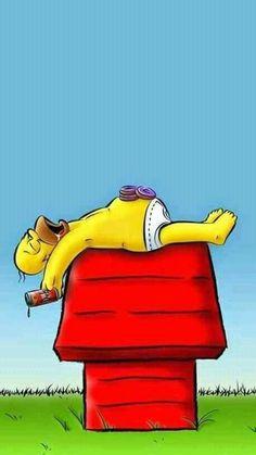 "Homer And Snoopy Wallpaper by shakachan - bf - Free on ZEDGEâ""¢ Snoopy Wallpaper, Cartoon Wallpaper, Simpson Wallpaper Iphone, Iphone Wallpaper, Tumblr Wallpaper, Simpsons Art, Supreme Wallpaper, Dog Logo, Futurama"