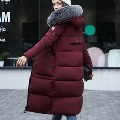 Cheap jacket fur collar, Buy Quality winter jacket coat women directly from China winter jacket coat Suppliers: New 2017 Winter Jacket Coat Women Coat Thick Parkas Female Warm overcoat Collar High Quality Bomber jacket Fur collar 4 Colour Winter Jackets Women, Coats For Women, Fur Jacket, Bomber Jacket, Womens Parka, Vintage Winter, Fur Collars, Latest Fashion For Women, Warm