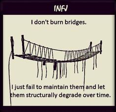 "INFJ's, otherwise known as ""Advocates,"" by MBTI terms, are a rare and complicated species. Infj Personality, Myers Briggs Personality Types, Personality Profile, That Way, Just For You, Intj And Infj, Infj Type, Burning Bridges, Istj"