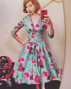 """""""Found it guys, the dress I plan on dying in cause I'm never taking it off. #50sdress #thanksgivingwillbeglorious #tilldeathdouspart #pinup"""""""