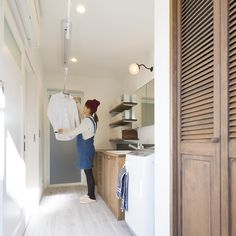 Tiny Closet, Laundry Closet, Laundry Room Organization, Laundry Room Design, Dream Home Design, House Design, Landry Room, Kitchen Utilities, Cute House