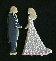 bride and groom cookies by sgodlove, via Flickr