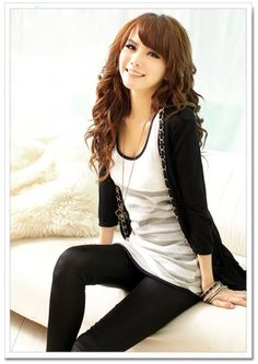 Cardigan Metal Chain Decorated Women Coat on BuyTrends.com, only price $8.63