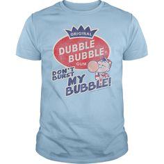 Dubble Bubble Gum Bubble Burst T-Shirts, Hoodies. SHOPPING NOW ==► https://www.sunfrog.com/Geek-Tech/Dubble-Bubble-Gum--Bubble-Burst-Light-Blue-Guys.html?id=41382