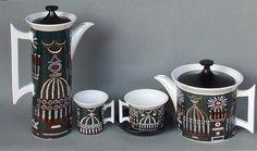 PORTMEIRION MAGIC CITY COFFEE AND TEA POTS