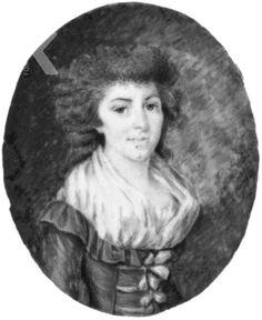 Frans Delecour     Portret van Johanna Louisa Frederica (von) Pittius (1763-1823), 1791 gedateerd The Hague, RKD (Collectie Iconografisch Bureau)