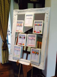 I think this sweetie mirrored table plan is brilliant!