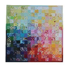 rainbow patchwork mini quilt