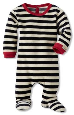 Amazon.com: Coccoli Baby-Boys Newborn Velour Striped Footie: Clothing