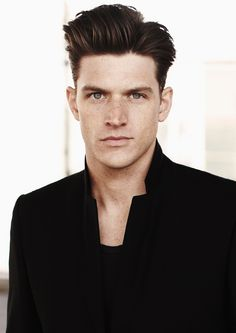 This is such a good hairstyle. Short on the sides, long on the top. Reminds me of Mad Men. In a very good way!