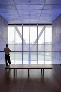 Modern Art Museum Tadao Ando Office Buildings The Works Fort Worth Ponds Pavilion Columns