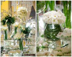 Arranjos de flores brancas para casamento   Inesquecível Casamento   Casamento   Wedding   White Wedding   Casamento Branco   Decoração   Decoração de Casamento   Decor   Decoration   Wedding Decor   Wedding Decoration   Decoração com flores   Flowers