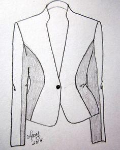 Trazado patrón de costura Chaqueta. Espalda | EL BAÚL DE LAS COSTURERAS