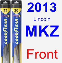 Front Wiper Blade Pack for 2013 Lincoln MKZ - Hybrid