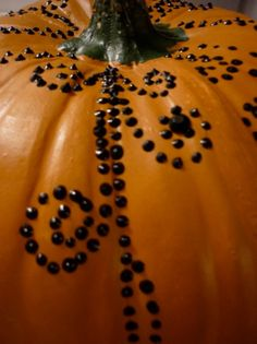 I love this idea - puffy paint designs on pumpkins.  We all know that Fall/Halloween in Texas is still so warm - carved pumpkins just don't last through the heat.  Great alternative!