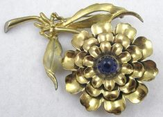 Golden Carnation Brooch - Garden Party Collection Vintage Jewelry