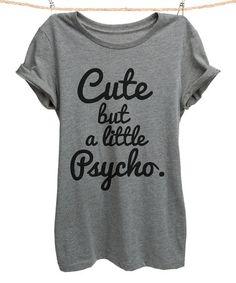 Loving this Heather Gray 'Little Psycho' Crewneck Tee - Women & Plus on #zulily! #zulilyfinds