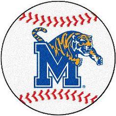Fanmats Memphis Tigers Baseball-Shaped Mat