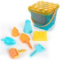 Set para hacer castillos de arena deluxe azul White Out Tape, Beach Gear, Safety Razor, Cubes, Foot Prints, Toys, Blue Nails
