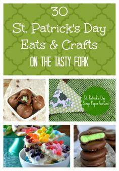Get ready to be Irish with 30 St Patrick's Day Eats & Crafts on The Tasty Fork.