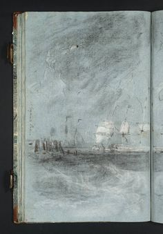 Joseph Mallord William Turner 'Composition Study for 'Ships Bearing Up for Anchorage'', c.1802