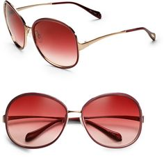 oliver peoples! Racy Enamel-lacquered Metal Sunglasses - Lyst