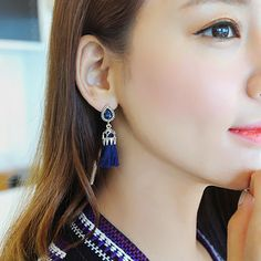 Find More Information about 2016 Fashion Popular Accessories Exquisite Vintage Tassel Drop Dangle Earring 4.7*1.6CM,High Quality accessories ford,China accessories kit Suppliers, Cheap earring chain from Fashion Smile-Enjoy Your Life on Aliexpress.com