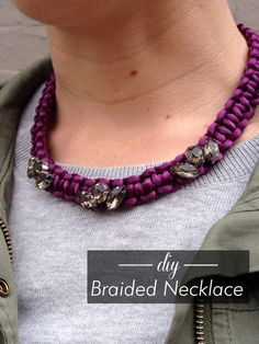 DIY J.Crew-inspired Braided Necklace