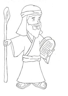 Moses And The 10 Commandments Coloring Page