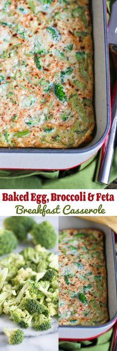 Egg, Broccoli and Feta Breakfast Casserole…An easy vegetarian brunch ...