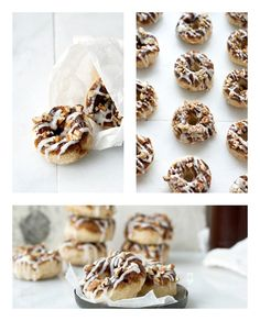 Baked Cinnamon Roll Donuts