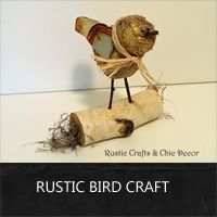 bird craft using natural and recycled materials