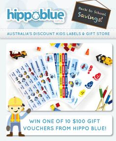 This month as a KidStyleFile Weekly Newsletter Subscriber�you have the chance to win 1 of 10 $100 gift vouchers to spend at�Hippo Blue � www.hippoblue.com.a