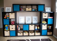 this is exactly what I want to do in the family room with all the toys and have a small flat screen in the middle for movie time