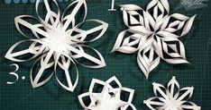 Tee-se-itse-henkinen lifestyle-blogi kaikille inspiraatioita etsiville, täynnä DIY-vinkkejä, sisustusideoita ja aitoja hetkiä elämästä. Recycled Christmas Decorations, Christmas Ornaments To Make, Christmas Snowflakes, Christmas Crafts For Kids, Holiday Crafts, Christmas Diy, 3d Paper Snowflakes, Snowflake Craft, Snow Flakes Diy