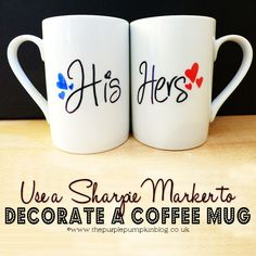 Use a Sharpie Marker to Decorate a Coffee Mug Creative Gifts #creativegifts #diygifts
